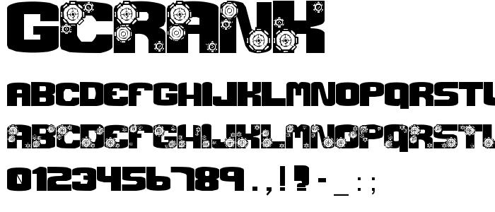 Gcrank font