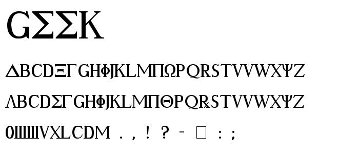 Geek font