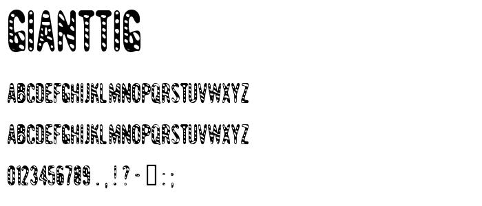 Gianttig font