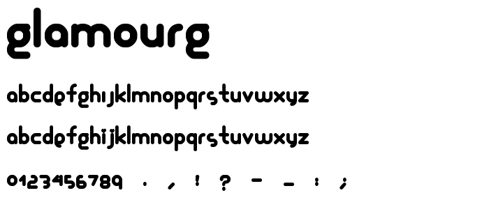 Glamourg font