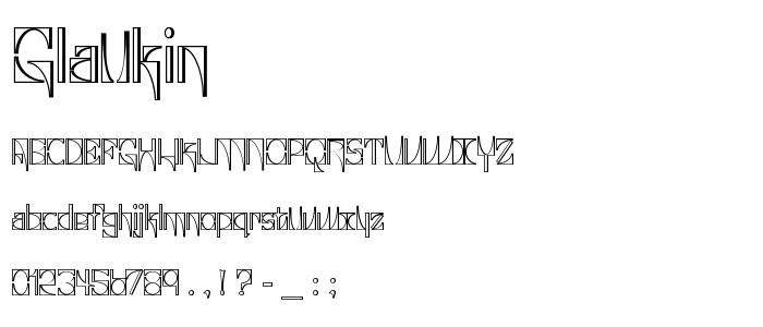 Glaukin font