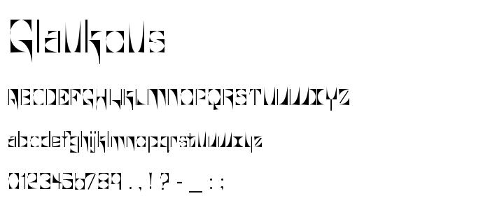 Glaukous font