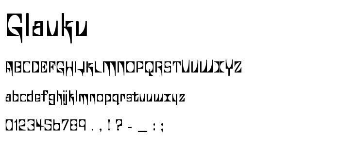 Glaukv font