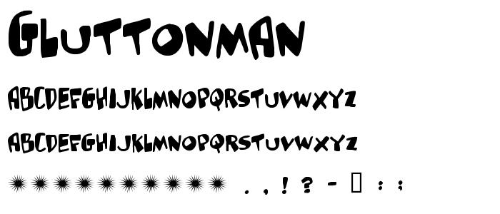 Gluttonman font