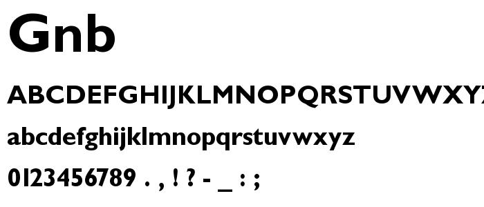 Gnb font