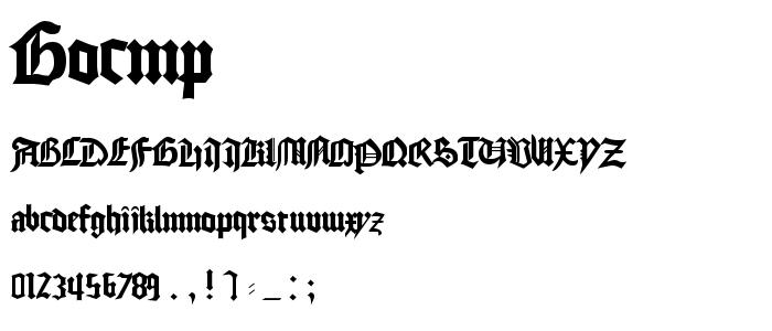 Gocmp font