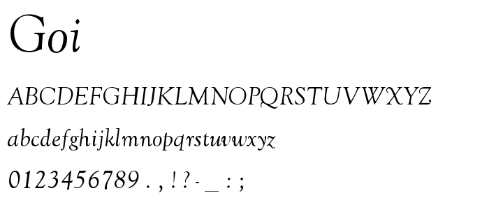 Goi font