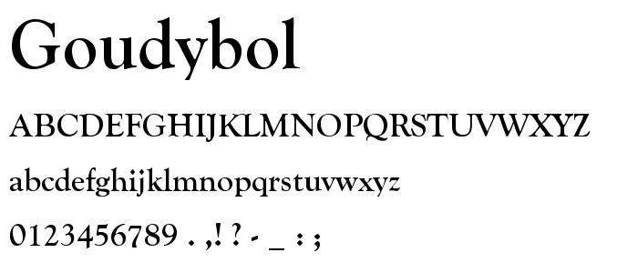GOUDYBOL.TTF font