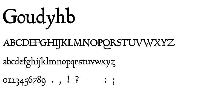 Goudyhb font