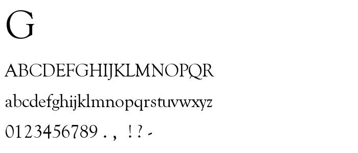 Goudy O1 font