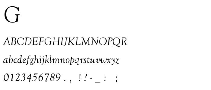 Goudy O2 font