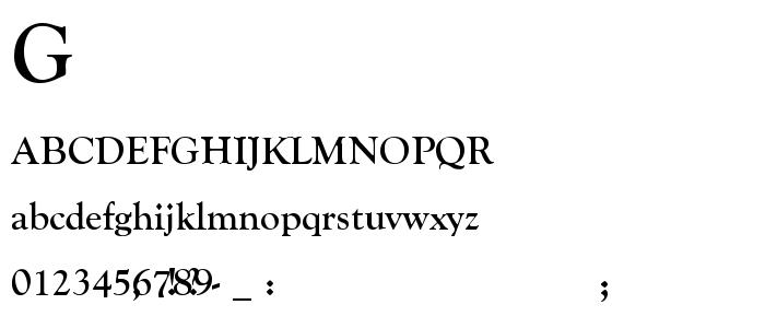 Goudy Ol font