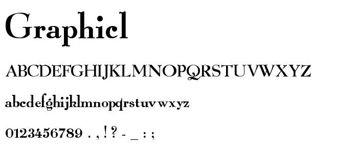 Graphicl font