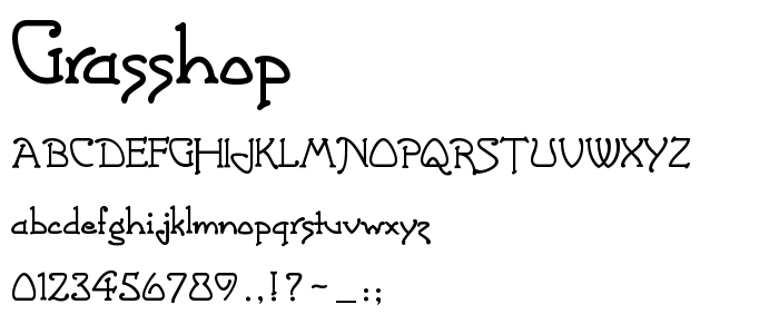 Grasshop font