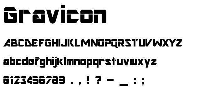 Gravicon font