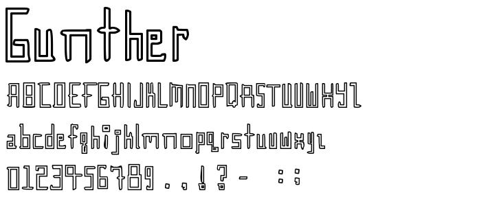 Gunther font
