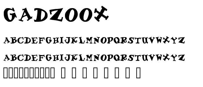 Gadzoox.ttf font