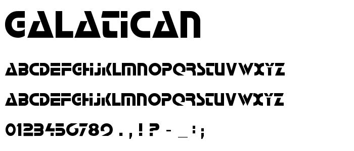 Galatican font
