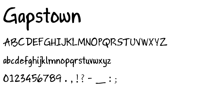 Gapstown font