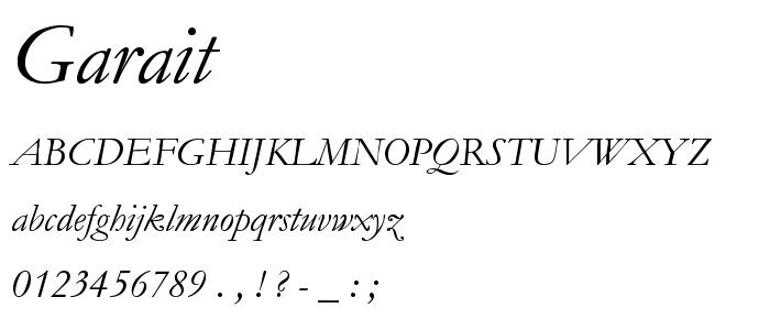 Garait font