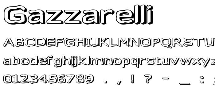 Gazzarelli font