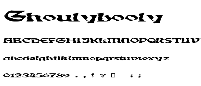Ghoulybooly font