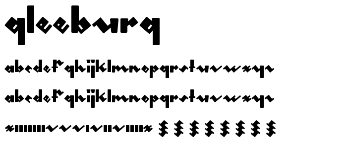 Gleeburg font