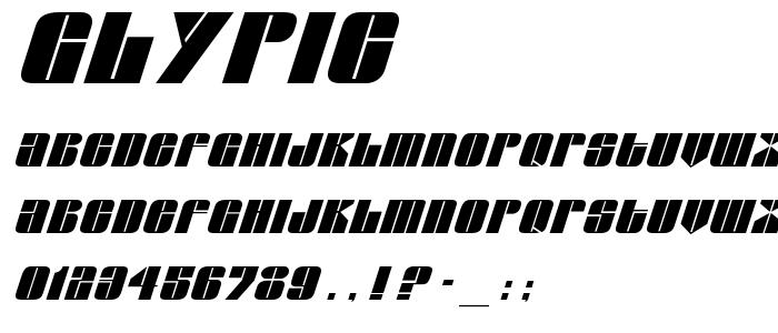 Glypic font