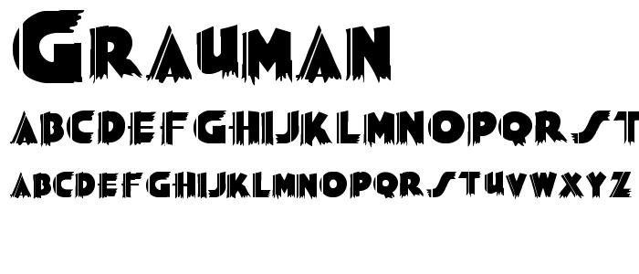 Grauman font