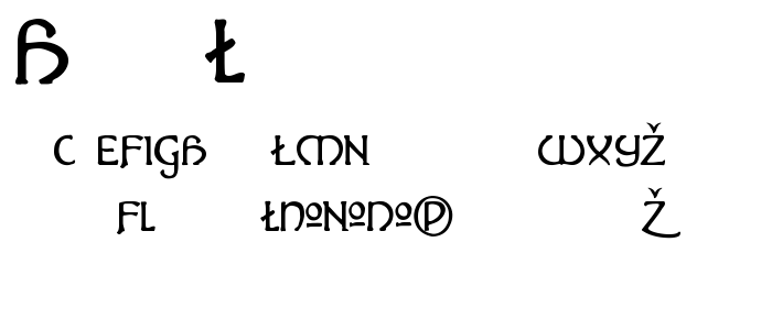 Hadalt font