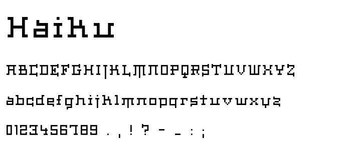 HAIKU___.TTF font