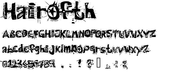 Hairofth font