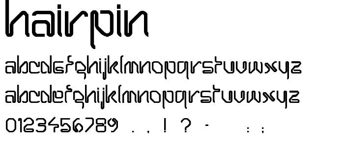 Hairpin font