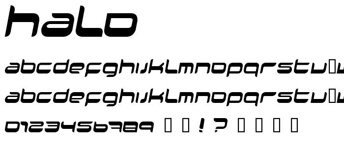 HALO____.TTF font