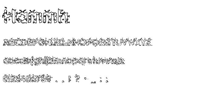 Hammh font
