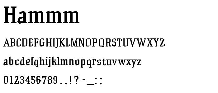 Hammm font