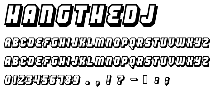 Hangthedj font