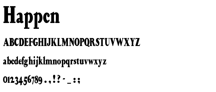 HAPPCN__.TTF font