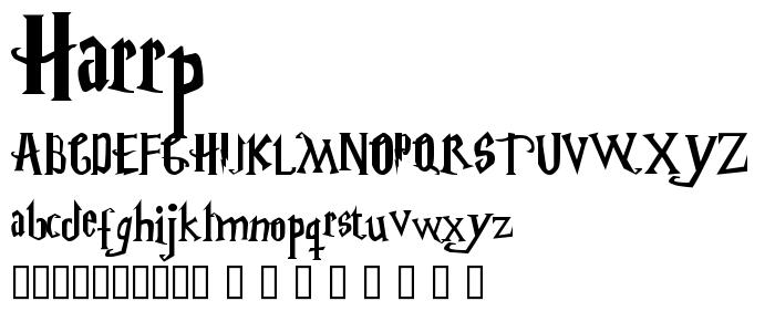 Harrp font