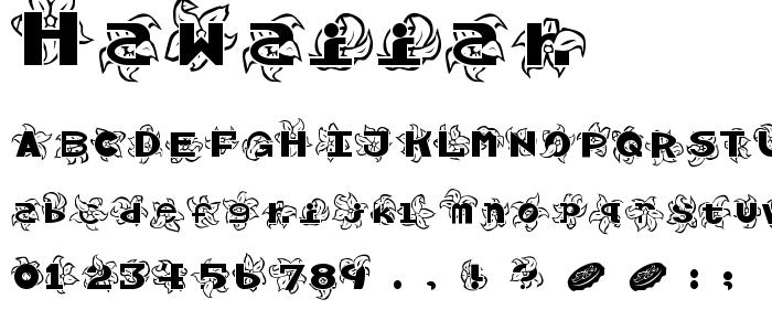 Hawaiiah font