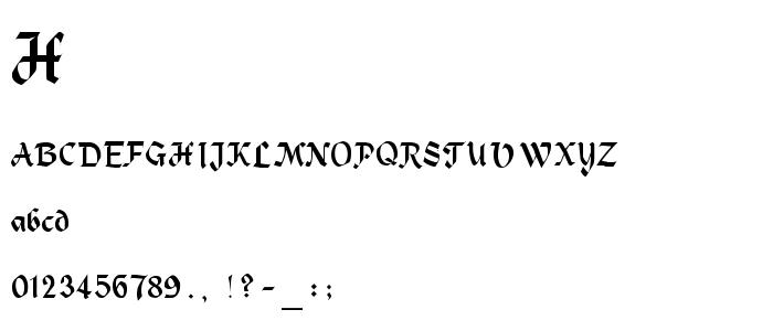 Heidelbe font