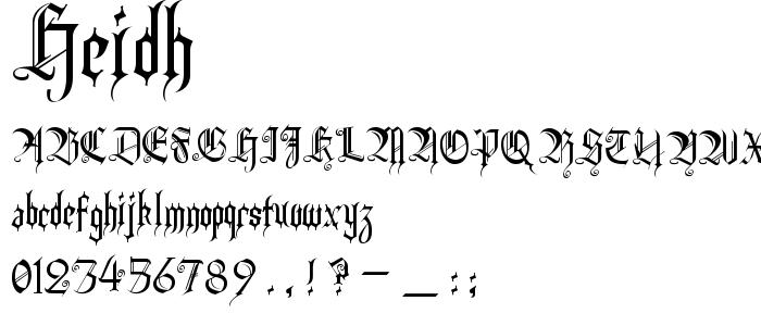 Heidh font