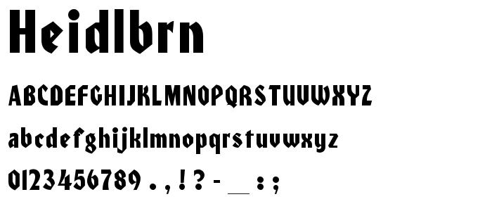 Heidlbrn font