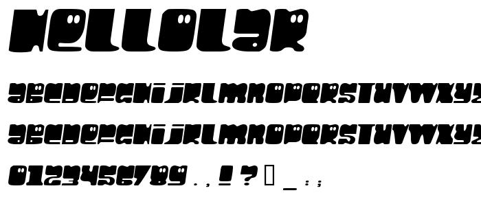 Hellolar font