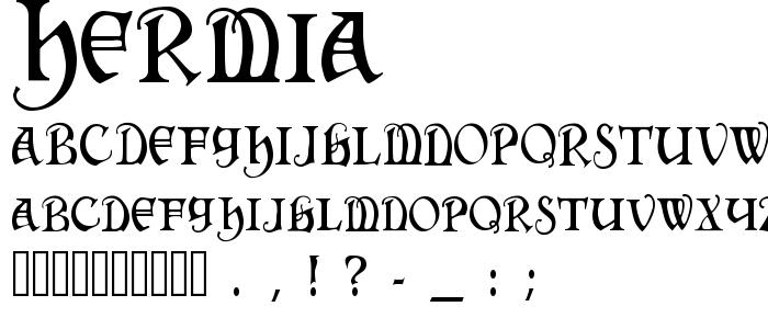 Hermia font