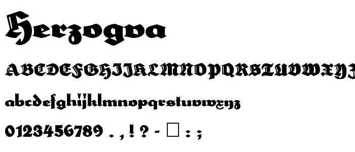 Herzogva font