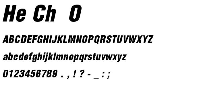 He Ch  O font