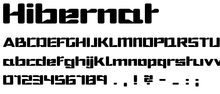 Hibernat font