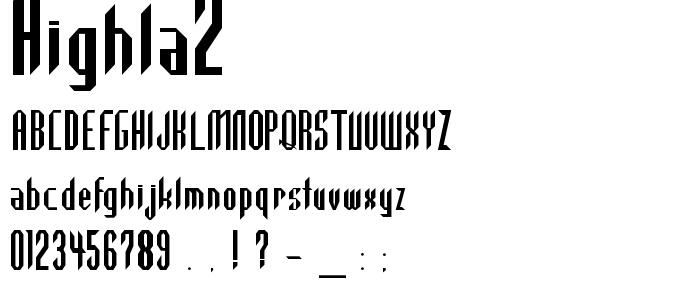 Highla2 font