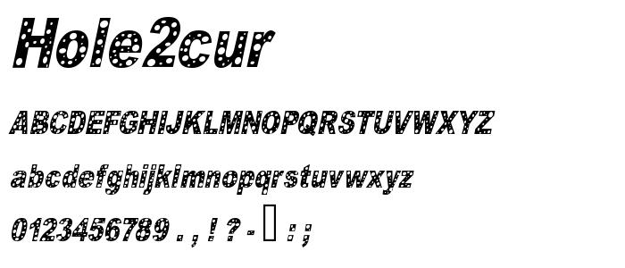 Hole2cur font